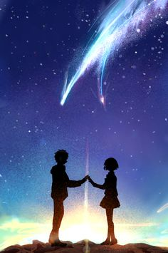 Anime Couples kimi no na wa - taki y mitsuha - Wattpad - Read taki y mitsuha from the story kimi no na wa by (Sanae Nakasawa) with reads. Anime Sky, Film Anime, Anime Galaxy, Galaxy Wallpaper, Hd Wallpaper, Temporary Wallpaper, Bedroom Wallpaper, Kawaii Wallpaper, Disney Wallpaper