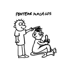 Expressão popular: PENTEAR MACACOS