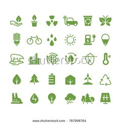 clean environment recycling process and renewable energy pictograms. green energy ecology and environment illustration 4 H, Illustrations, Photo Illustration, Recycling Process, School Murals, Energy Resources, Power Energy, Embroidery Monogram, Vector Photo