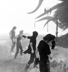 Ignis, Noctis, Prompto and Gladious