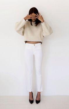 Cream and white.