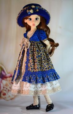 """""""Beauty of Autumn"""" Dress Outfit Clothes for 18"""" MSD Kaye Wiggs BJD Liz Frost 