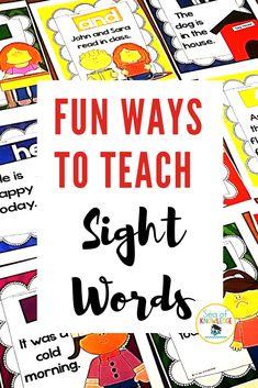 Preschool Sight Words, Teaching Sight Words, Sight Word Practice, Sight Word Activities, Word Games, Learn To Read Kindergarten, Preschool Learning, Kindergarten Activities, Preschool Ideas