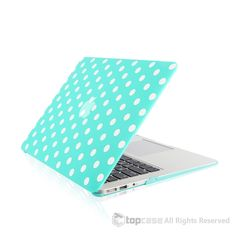 """Polka Dot Design Hot Blue Ultra Slim Light Weight Hard Case Cover for Macbook Air 13"""" Model: A1369 and A1466"""