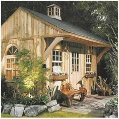 This would see gorgeous at my backyard! DIY sheds, a great gift for him, and for me too!