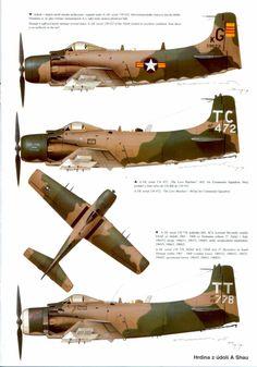 Le Douglas A-1 Skyraider ou AD Skyraider est un bombardier d'appui tactique mono-moteur à pistons, l'un des derniers utilisés par des armées de l'air modernes. En effet, il est sorti à l'époque où les premiers chasseurs à réaction entrèrent pleinement dans la partie. Il n'en a pas moins montré avec succès ses capacités au combat1.