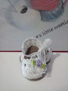 baby shoes knit crochet cotton