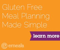 Gluten Free Meal Plans on eMeals make dinner so easy!