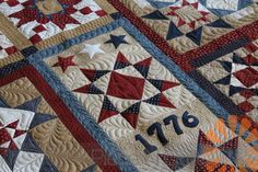 Piece N Quilt: Americana Quilt - Custom Machine Quilting by Natalia Bonner