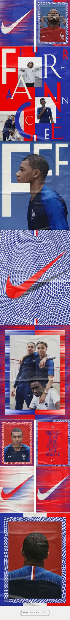 It's Nice That | Designer Marc Armand on graphically interpreting the French football team's kit ahead of the World Cup... - a grouped images picture - Pin Them All