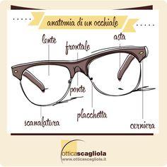 anatomia di un occhiale #infographic http://www.otticascagliola.it/il-blog/6-anatomia-di-un-occhiale