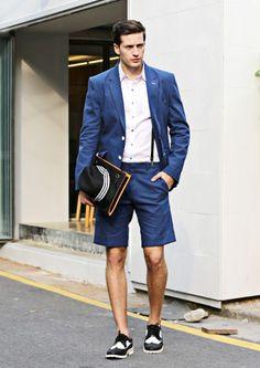 57015c64828 Blue Linen Summer Blazer Jacket - Outers