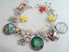 Special Gifts Online features handcrafted jewellery that is beautiful, unique and lots of fun. We hand make each bracelet to a one of a kind design, so each piece is absolutely unique.   This bracelet is our Wizard of Oz charm braceletThe wonderful tale of Dorothy and The Wizard of Oz inspired this cute charm bracelet.  £19.99   buy it @ http://www.specialgiftsonline.co.uk/products/wizard-of-oz-charm-bracelet
