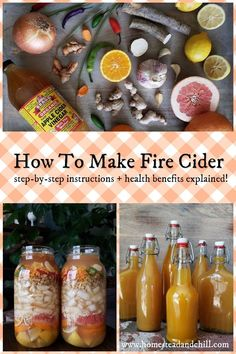 Plant Medicine & Natural Health Find out how to make fire cider at home, to ward off those colds and flu bugs! A powerful healing combination of garli. Cold Remedies, Herbal Remedies, Health Remedies, Natural Remedies, Holistic Remedies, Healthy Drinks, Healthy Eating, Healthy Salads, Clean Eating