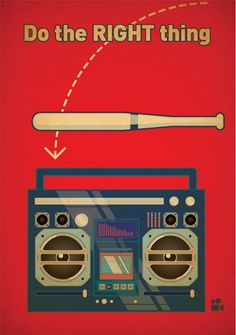 Do the Right Thing (1989) ~ Minimal Movie Poster by Gabinet #amusementphile
