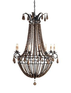 Austin Allen Co Handley With Stained Wood Beads Three Light 16 Inch Chandelier Thrifting It Pinterest Chandeliers And Woods