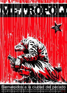 SIN CITY, una película de Frank Miller (2005). Ilustración de Raúl Arias.