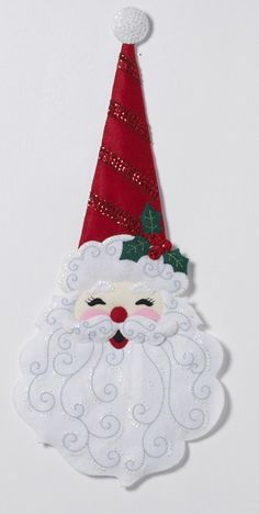 Sewing Craft Colray Crafts Home: OnLine Shopping for Cross-Stitch, Needlepoint and Felt Applique Sewing Kits Santa Crafts, Christmas Ornaments To Make, Christmas Makes, Felt Ornaments, Felt Crafts, Christmas Diy, Ornament Crafts, Felt Decorations, Christmas Table Decorations