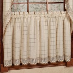 Sweet Home Collection Adirondack Cotton Kitchen Window Tier Curtain (Set of 2)