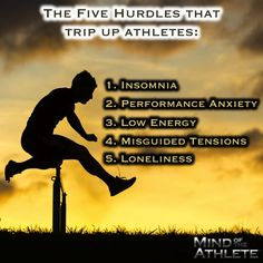 The Five Hurdles that trip up athletes