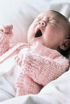 Baby yawn :-)  too cute