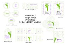 Fairy Party Printables Tinkerbell by LoveINKprintables on Etsy