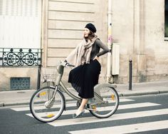 These great shots of stylish ladies on bikes from... | ModCloth on Tumblr