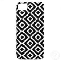 Black & White Ikat Diamonds iPhone 5 Covers