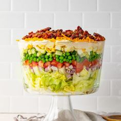 Easy Salad Recipes, Easy Salads, Fast Recipes, Paleo Recipes, Dinner Recipes, Vegan Cheddar Cheese, Seven Layer Salad, Frosty Recipe, Small Tomatoes