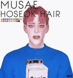 BTS Hoseok Hair for The Sims 4 Sims 4 Hair Male, Sims Hair, My Sims, Sims Cc, Sims 4 Cc Shoes, Kpop Hair, Sims 4 Cc Skin, The Sims 4 Download, Sims 4 Cc Finds