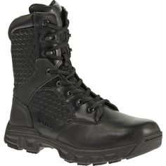 """BATES Code 6 - Women's 8"""" Leather Nylon Zip Boot"""