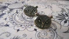 Owl Earrngs Woodland Steampunk Rustic Owl by enchantedsquirrel, $9.00