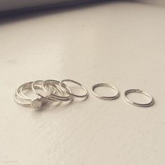 Jewellery handmade from Sweden - Stack overflow - Silver wire ring