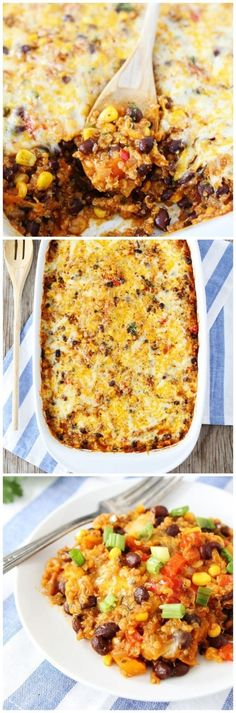 Black Bean and Quinoa Enchilada Bake on twopeasandtheirpod.com One of our most popular recipes! Everyone loves this recipe!