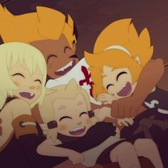 Famille de Percedal ! Elely, Flopin, Tristepin et Evagelyne