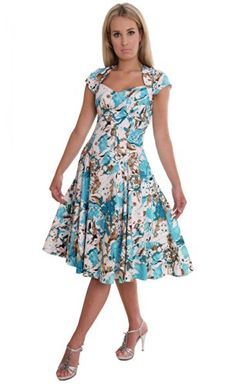 Ladies Summer Dress Retro 50s Style Cocktail Party Dress UK Design By MontyQ MontyQ http://www.amazon.com/dp/B00KPG790I/ref=cm_sw_r_pi_dp_CdrWtb1EWBPWXT9R