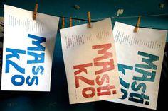 Huachos. Huerfanos cientificamente producidos por el genocidio. Afiches tipográficos realizados conjuntamente con Colectivo de hijos. 2012.