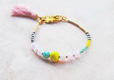 Boho Tassel Bracelet Seed beads Friendship bracelet Seed Bead Necklace, Seed Bead Bracelets, Seed Bead Jewelry, Love Bracelets, Handmade Bracelets, Fashion Bracelets, Boho Jewelry, Seed Beads, Beaded Jewelry