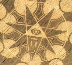 Ufopolis.NET: Simbología universal en los crop circles (VI): La alquimia, el siete y los illuminati
