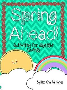 Spring Ahead! Daylight Saving time activities - freebie!