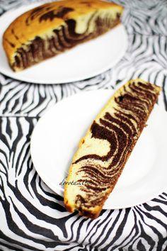 Ciasto Zebra Polish Food, Polish Recipes, Poland, Cake Recipes, Nom Nom, Goodies, Sweets, Cakes, Baking