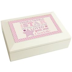 Personalised Twinkle Girls White Keepsake Box  from Personalised Gifts Shop - ONLY £24.99