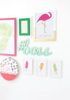 DIY Wall Art Ideas for Teen Rooms - DIY Cricut Explore Gallery Wall - Cheap and Easy Wall Art Projects for Teenagers - Girls and Boys Crafts for Walls in Bedrooms - Fun Home Decor on A Budget - Cool Canvas Art, Paintings and DIY Projects for Teens http:// Diy Wand, Art Ideas For Teens, Diy Projects For Teens, Art Projects, Apt Ideas, Decor Ideas, Simple Wall Art, Diy Wall Art, Easy Wall