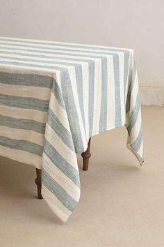 Anthropologie - Sea Stripes Table Cloth