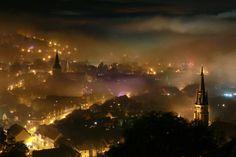 Foggy night at Wernigerode, Germany