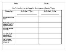 Nonfiction Template -  that can be used for all nonfiction