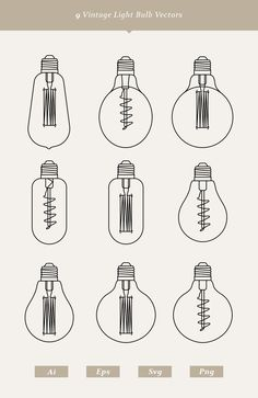 This set contains 9 outline vintage light bulb pixel perfect vectors. Adjustable stroke width, color and scalable vectors. Includes Adobe Illustrator Ai, eps, svg and transparent png files. Great for flat and modern projects including prints, web design etc. Worked on pixel grid for crisp details.