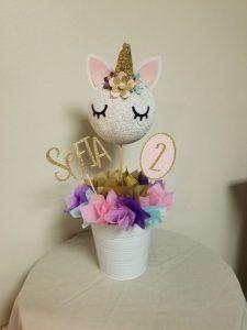 centro de mesa para fiesta unicorno (1)