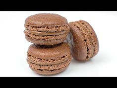 Reteta Macarons cu ciocolata - JamilaCuisine - YouTube