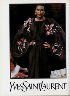 1988-89 - Yves Saint Laurent Couture show - Fashion Runway Show 614a8f9e550